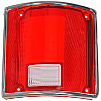 1610089 Tail Light Lens - Passenger Side, Red, Direct Fit, Sold individually