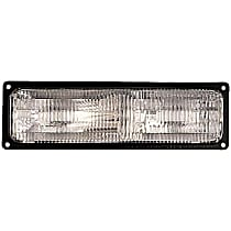 Front, Passenger Side Turn Signal Light, Without bulb(s)