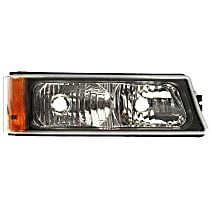 1630066 Front, Passenger Side Turn Signal Light, Without bulb(s)