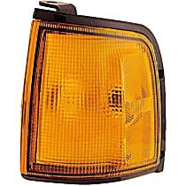 Front, Driver Side Turn Signal Light, With bulb(s)