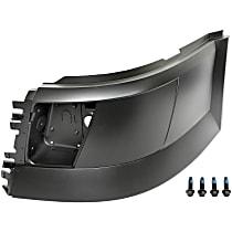 242-5555 Front, Driver Side Plastic Bumper End, Painted Black