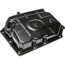 265-818 Transmission Pan - Black, Steel, Stock Depth, Direct Fit, Sold individually