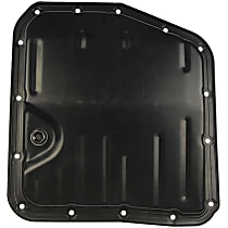 265-823 Transmission Pan - Black, Steel, Stock Depth, Direct Fit, Sold individually