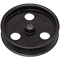 Dorman 300-002 Power Steering Pump Pulley - Black, Metal, Direct Fit, Sold individually