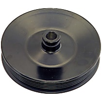 Dorman 300-005 Power Steering Pump Pulley - Black, Metal, Direct Fit, Sold individually