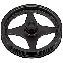 Dorman 300-010 Power Steering Pump Pulley - Black, Metal, Direct Fit, Sold individually