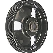 Dorman 300-100 Power Steering Pump Pulley - Black, Metal, Direct Fit, Sold individually