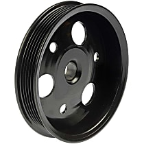 300-130 Power Steering Pump Pulley - Black, Metal, Direct Fit, Sold individually