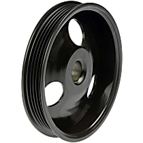Power Steering Pump Pulley - Black, Metal, Direct Fit, Sold individually