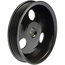 300-132 Power Steering Pump Pulley - Black, Metal, Direct Fit, Sold individually