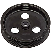 Dorman 300-306 Power Steering Pump Pulley - Black, Plastic, Direct Fit, Sold individually