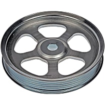 Dorman 300-333 Power Steering Pump Pulley - Chrome, Steel, Serpentine, Direct Fit, Sold individually