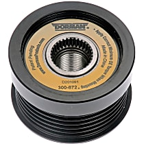 300-872 Alternator Pulley - Serpentine, Direct Fit, Sold individually