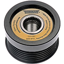Dorman 300-872 Alternator Pulley - Serpentine, Direct Fit, Sold individually