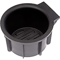 Cup Holder - Black, Rubber, Direct Fit, Sold individually