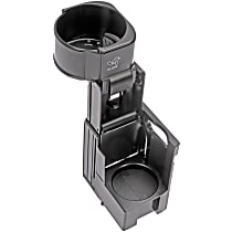 Dorman 41025 Cup Holder - Black, Plastic, Direct Fit, Sold individually