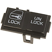 49218 Door Lock Switch - Black, Direct Fit, Sold individually