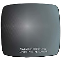 51240 Passenger Side Non-Heated Mirror Glass, Without Turn Signal Light