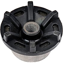 Strut Mount Bushing - Black, Rubber and steel, Direct Fit, Sold individually