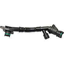 Direct Fit Breather Hose, Sold individually - Driver Side, Cyl 5-8, With Valve