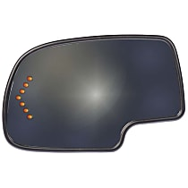 Driver Side Heated Mirror Glass, With Turn Signal Light