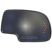 Passenger Side Heated Mirror Glass, With Turn Signal Light