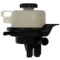 603-934 Power Steering Reservoir - Black and White, Direct Fit, Sold individually