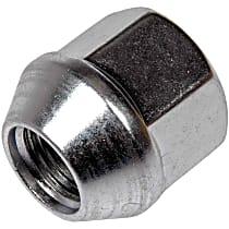 Dorman AutoGrade Conical Lug Nut - Zinc, Steel, Bulge, 1/2-20 in. Direct Fit, Set of 10