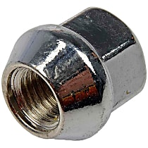 Dorman AutoGrade Conical Lug Nut - Chrome, Steel, Bulge, M12-1.50 Direct Fit, Sold individually