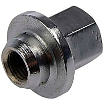 Dorman AutoGrade Flange Lug Nut - Chrome, Steel, Wheel retaining nut, 7/16-20 in. Direct Fit, Sold individually