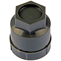 Dorman 611-606.1 Lug Nut Cover - Gray, Plastic, Direct Fit, Sold individually