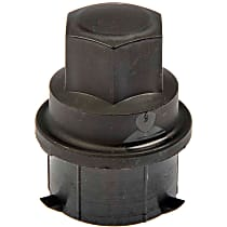 Dorman 611-612.1 Lug Nut Cover - Black, Plastic, Direct Fit, Sold individually