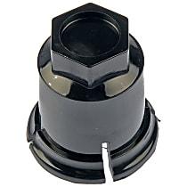 611-619 Lug Nut Cover - Black, Plastic, Direct Fit, Set of 5