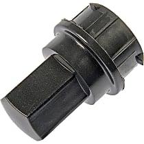 611-629 Lug Nut Cover - Black, Plastic, Direct Fit, Set of 5
