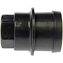 611-638.1 Lug Nut Cover - Black, Plastic, Direct Fit, Sold individually