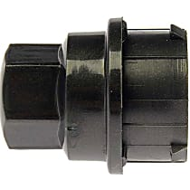 Dorman 611-640.1 Lug Nut Cover - Black, Plastic, Direct Fit, Sold individually