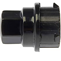 611-641.1 Lug Nut Cover - Black, Plastic, Direct Fit, Sold individually