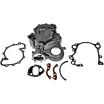 Dorman 635-547 Timing Cover - Silver, Aluminum, 1-Piece, Direct Fit, Sold individually