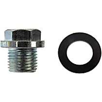 Dorman 65325 Oil Drain Plug - Natural, Steel, Flanged hex, Direct Fit, Sold individually