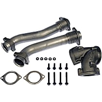 Dorman 679-005 Turbo Pipe - Natural, Steel Tubing With Cast Iron Y-Connector, Direct Fit, Kit