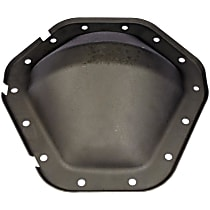 Differential Cover - Black, Steel, Direct Fit, Sold individually Rear