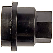Lug Nut Cover - Black, Plastic, Direct Fit, Set of 5