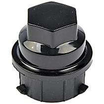711-022 Lug Nut Cover - Black, Plastic, Direct Fit, Set of 5