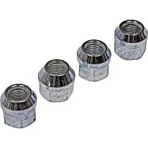 Dorman AutoGrade Conical Lug Nut - Chrome, Steel, Bulge, 7/16-20 in. Direct Fit, Set of 4