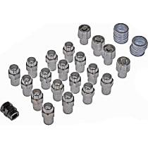 Dorman 711-348 Wheel Lock Set - Chrome, Direct Fit, Set of 20