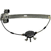 Front, Passenger Side Manual Window Regulator, Manual Crank Type