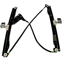 740-690 Front, Driver Side Power Window Regulator, Without Motor