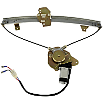 Front, Driver Side Power Window Regulator, With Motor - Hatchback