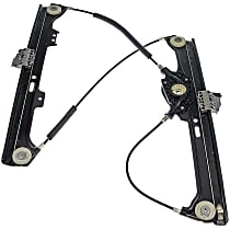 Front, Passenger Side Power Window Regulator, Without Motor - Sedan