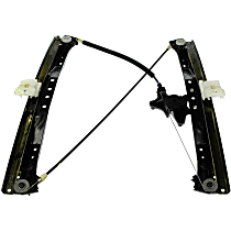 749-508 Front, Driver Side Power Window Regulator, Without Motor
